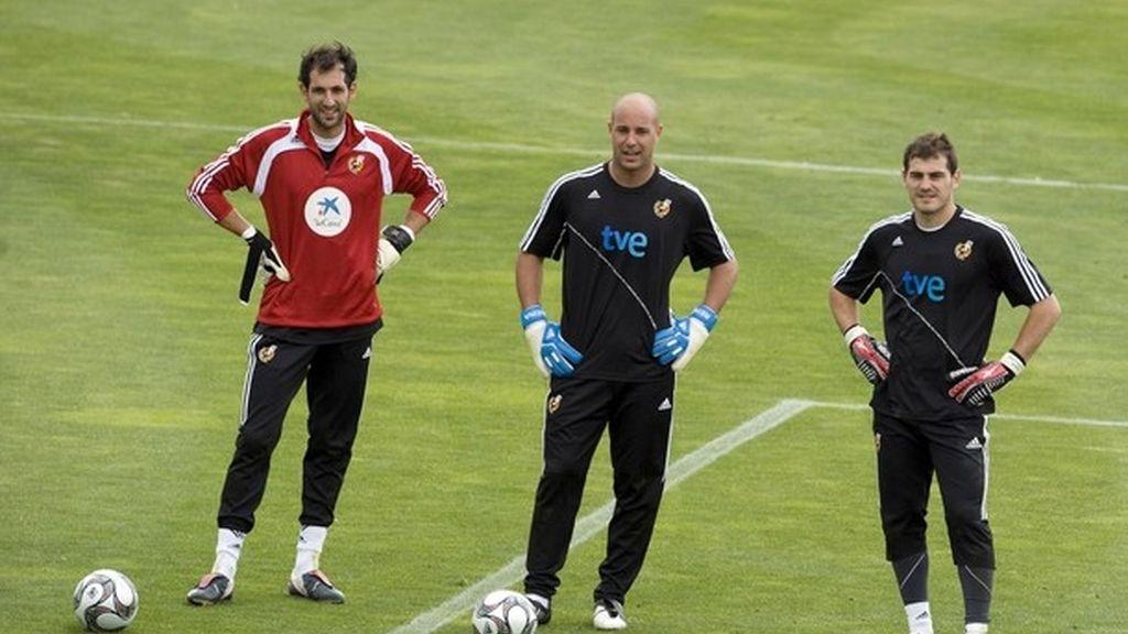 Con Reina y Casillas