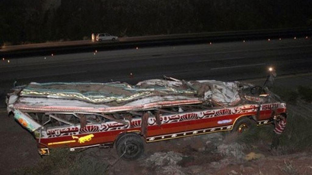 Estado del autobús en el que han muerto 45 estudiantes