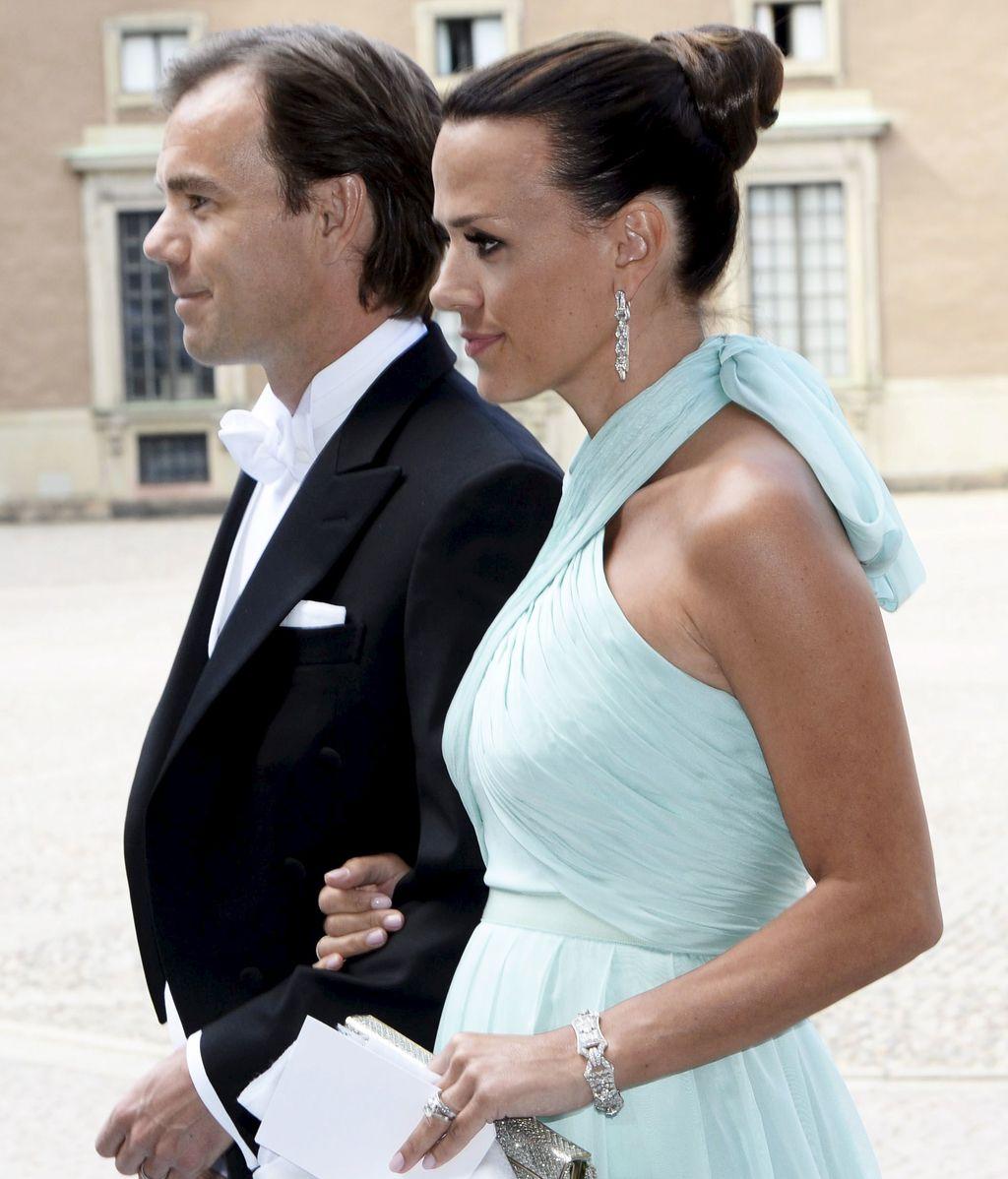 Karl-Johan Persson, CEO de H&M, acudió con su esposa Leonie