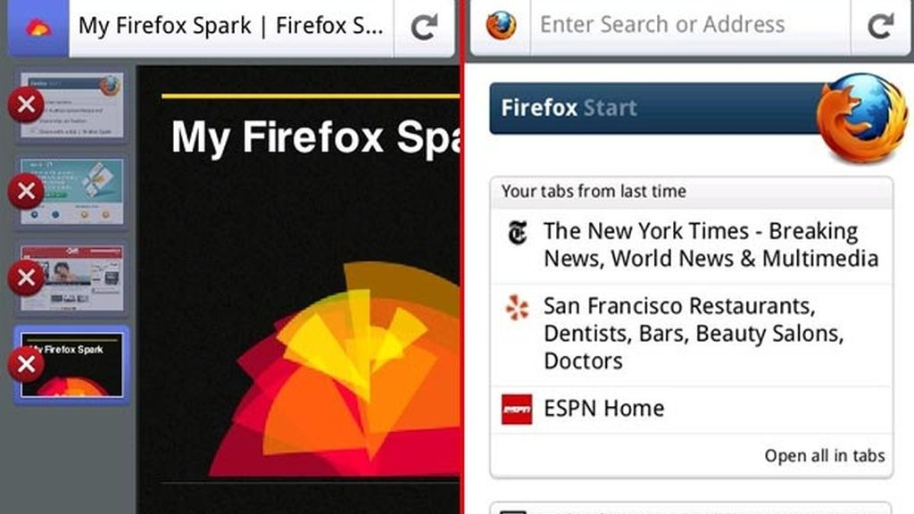 Firefox para móviles, android