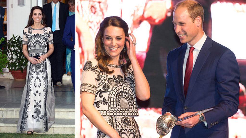 Los Duques en una gala en honor a la Reina de Inglaterra en Nueva Delhi