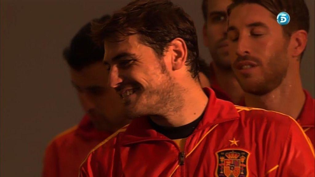 El portero del Madrid, en el túnel de vestuarios