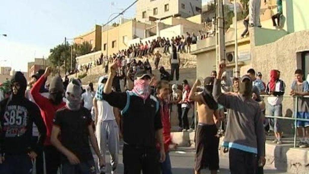 Disturbios en Melilla por la falta de trabajo
