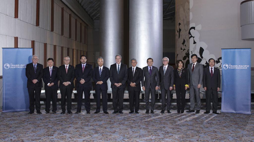 Ministros signatarios del Acuerdo de libre comercio del Pacífico