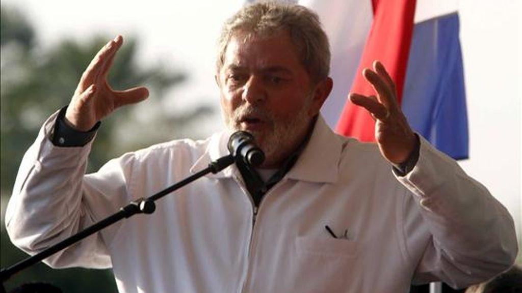 """""""La única palabra que no puede existir entre ambos países es guerra. Es una palabra fuerte. Se debe pronunciar la palabra paz"""", dijo Lula, quien enfatizó que va """"a trabajar para reconstruir la relación"""". EFE"""