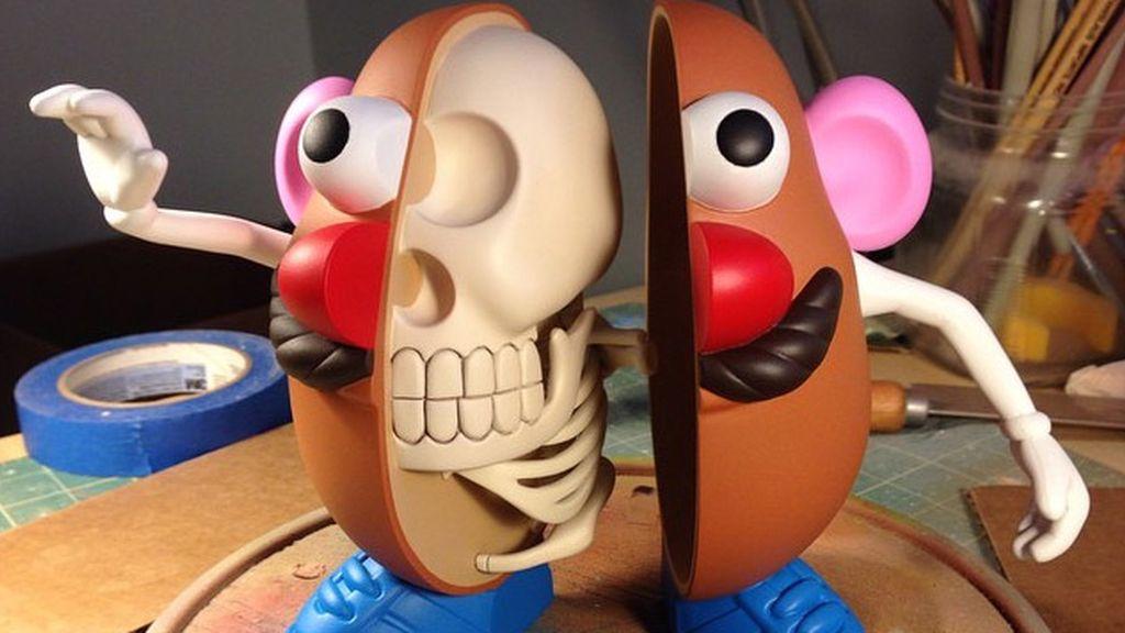 Así sería el interior de Mr Potato si fuese de carne y hueso