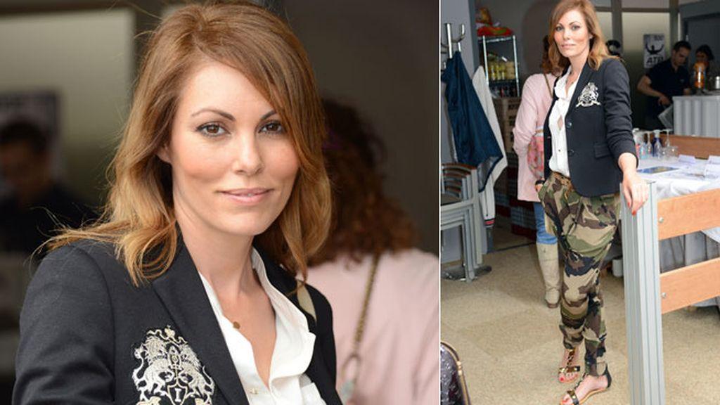 La ex modelo Raquel Rodríguez llevó unos pantalones de camuflaje