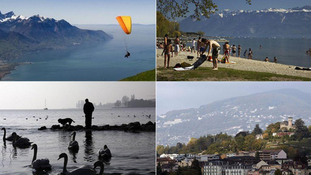 El Lago Ginebra, en Suiza, es el más grande de Europa Occidental
