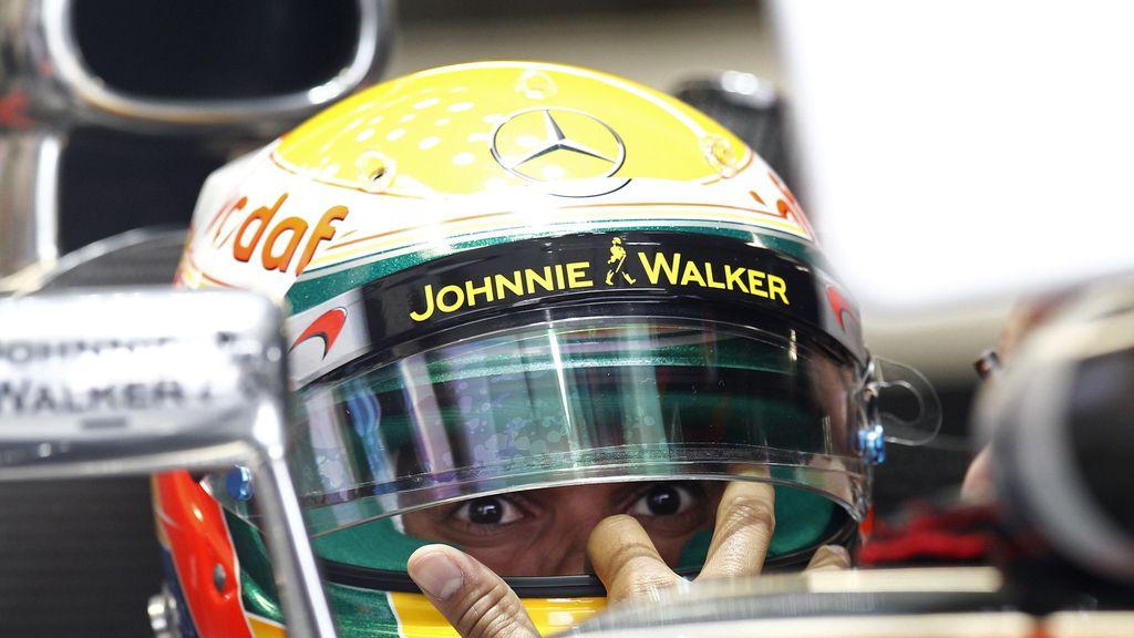 Hamilton durante la preimera sesión de entrenamientos del Gran Premio de Canadá