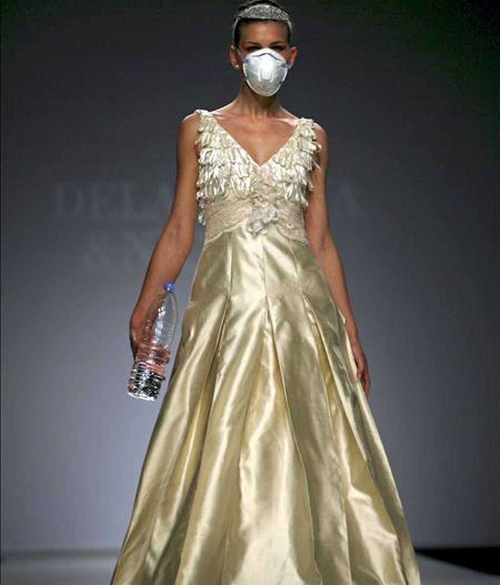 El salón de moda nupcial Barcelona Bridal Week ha cerrado hoy las puertas de su 19ª edición con la visita de cerca de 13.000 profesionales vinculados al sector, el 60% de ellos extranjeros. EFE/Archivo