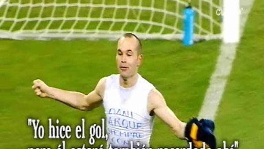 Andrés Iniesta, el amigo culé para la afición del Espanyol