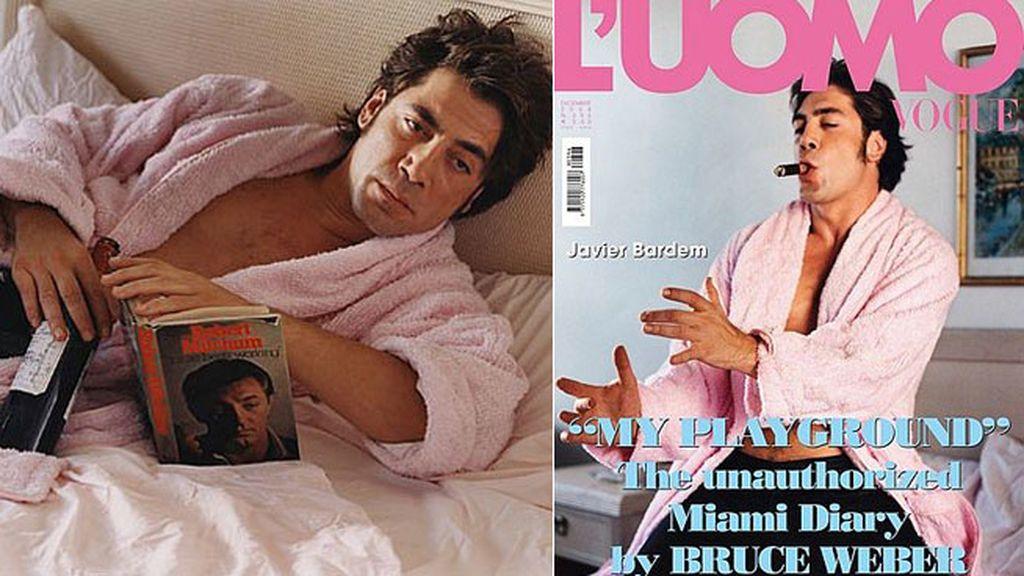 Javier Bardem en un reportaje para la revista Vogue