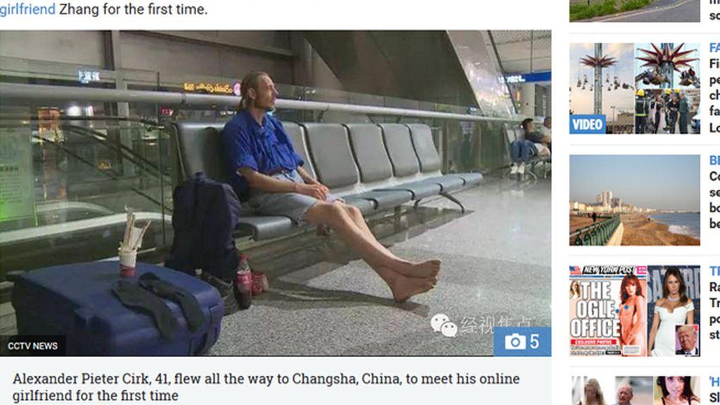Espera 10 días en el aeropuerto para conocer a su novia 'online' y termina hospitalizado