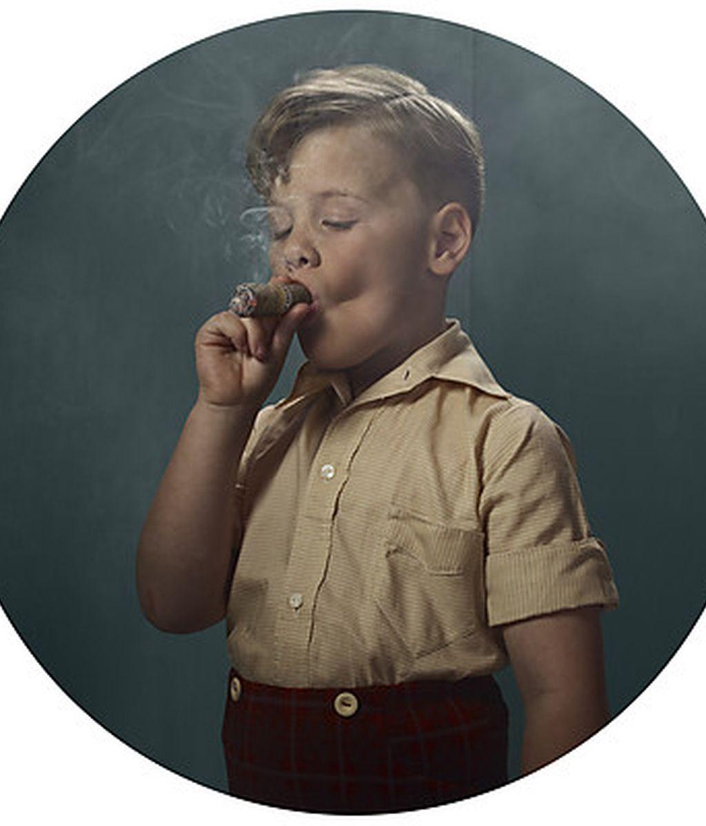 Arte niños fumadores