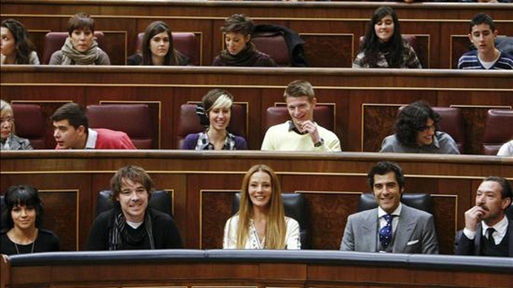Acto de lectura continuada de la Constitución Española que se desarrolló el 3 de diciembre en el Congreso de los Diputados con motivo del 32 aniversario del texo. EFE/Archivo
