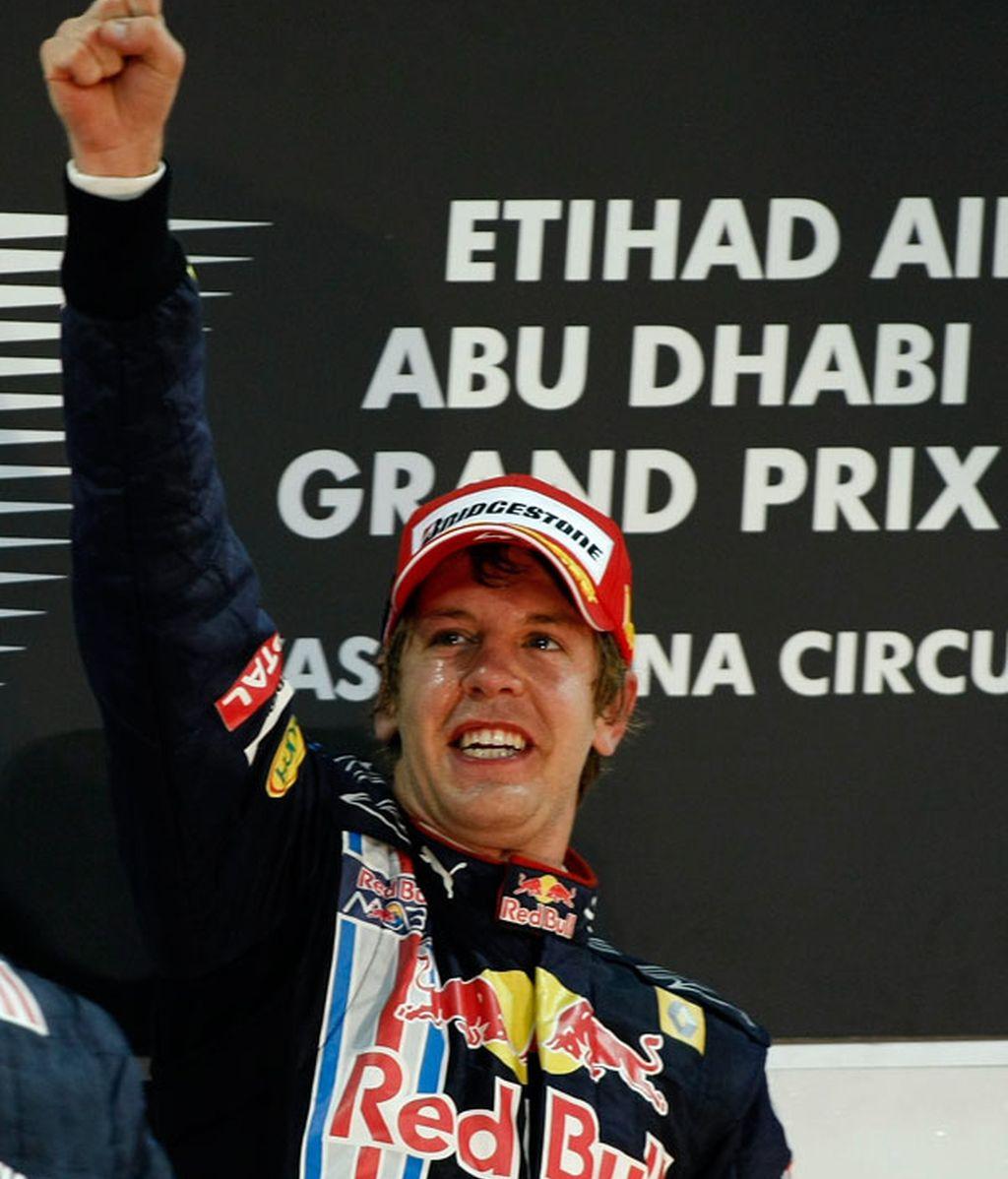 Vettel celebra su victoria