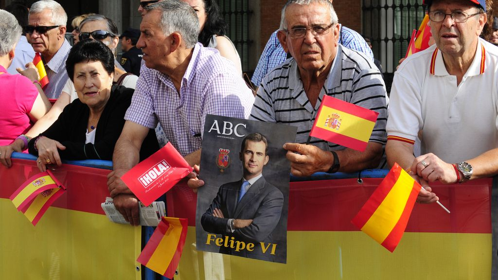 Madrid acompaña a Felipe VI
