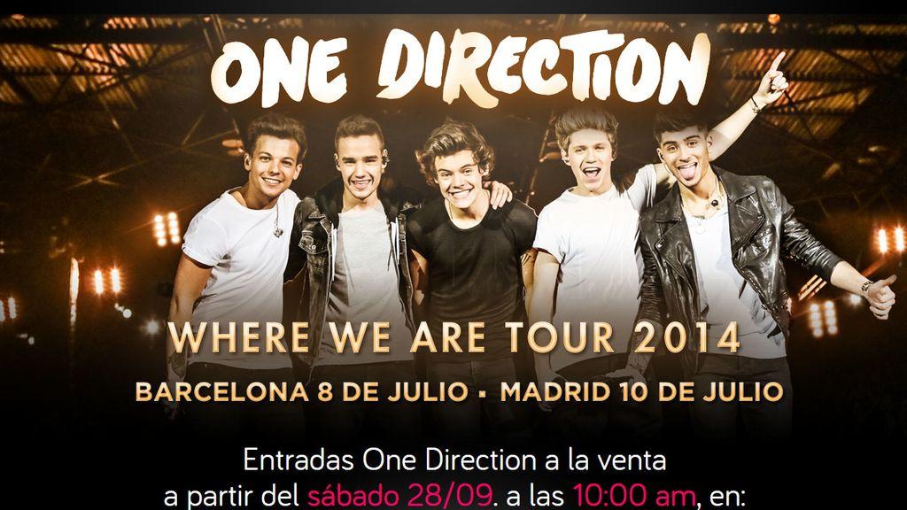 One Direction actuarán en Barcelona y Madrid en julio de 2014