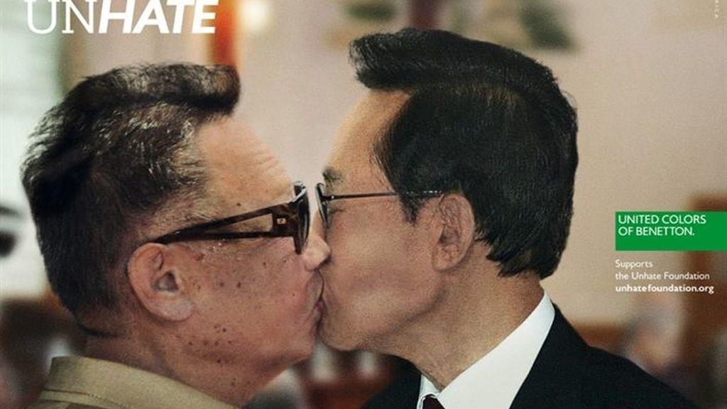 Benetton retira el montaje del beso entre el Benedicto XVI y el imán Ahmed el Tayyeb