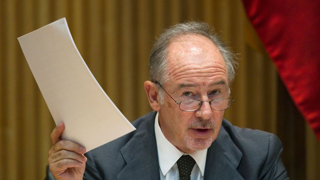 Rodrigo Rato durante su comparecencia en la Comisión de Economía del Congreso