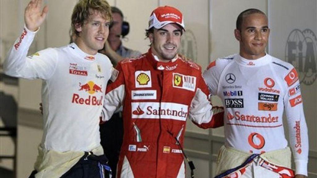 Vettel y Hamilton, al acecho de Fernando Alonso
