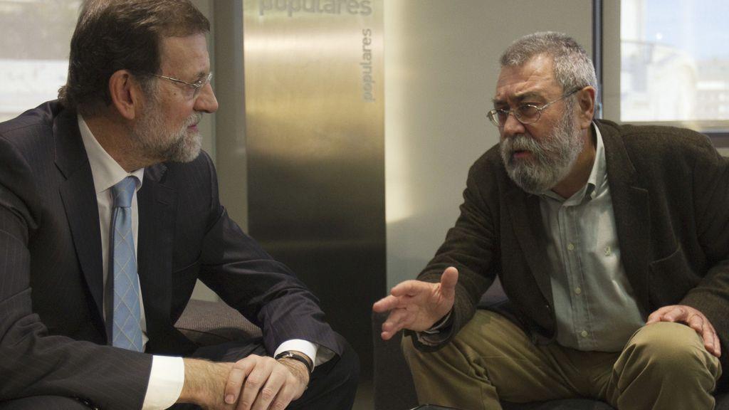 Mariano Rajoy y Cándido Méndez