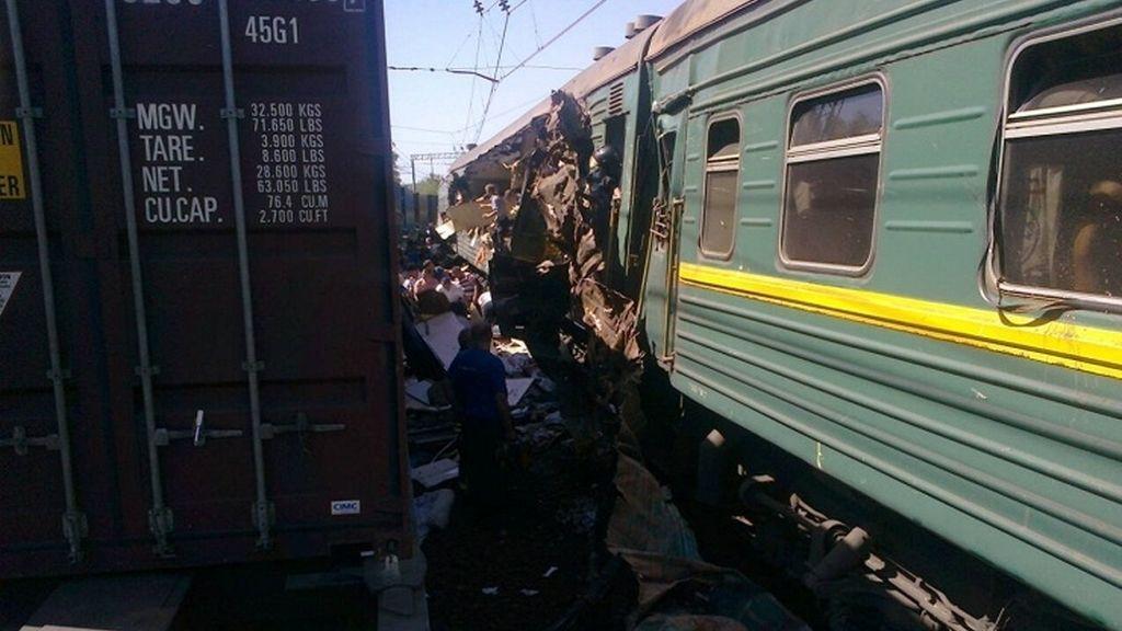 Choque de trenes en Rusia