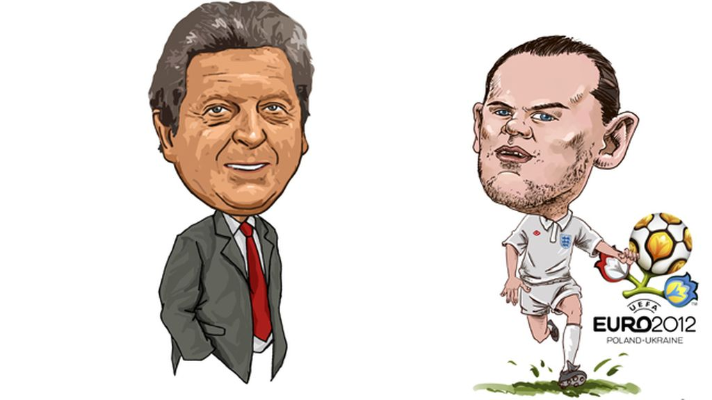 Roy Hodgson y Wayne Rooney (Inglaterra)
