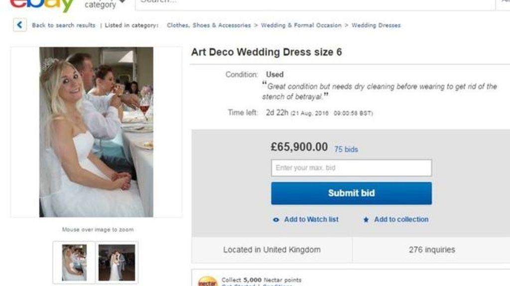 Vende su vestido para pagar el divorcio