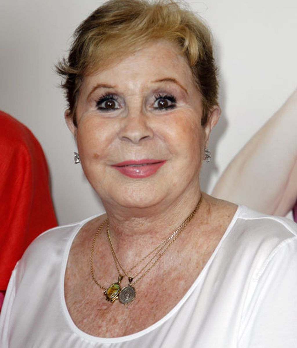 La actriz Lina Morgan, con una camiseta blanca