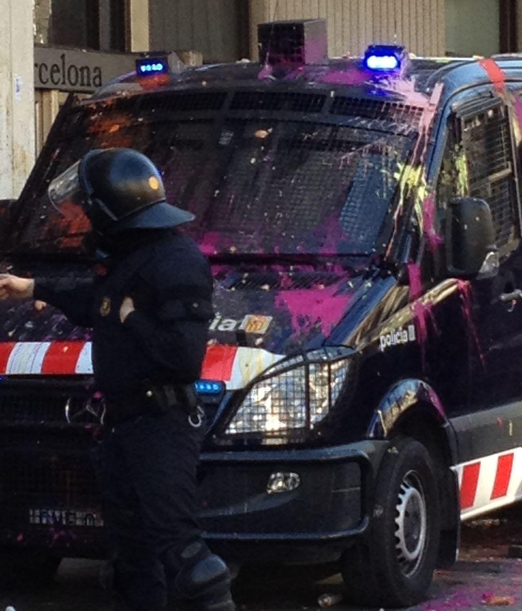 Incidentes en el centro de Barcelona