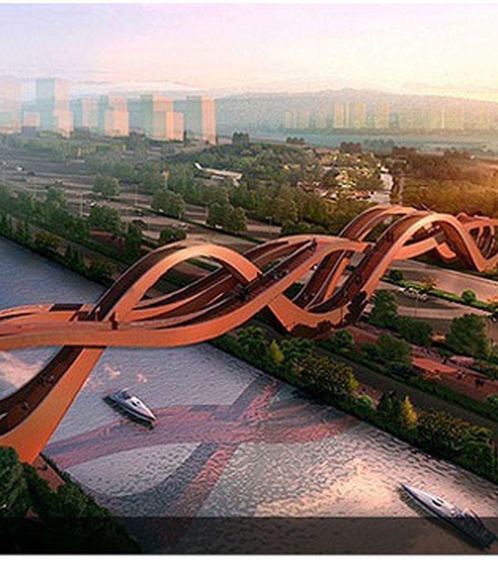 Construyen un impresionante 'puente infinito' en China