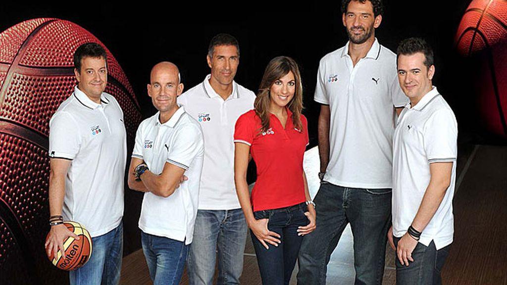 Equipo de Mediaset para el Eurobasket