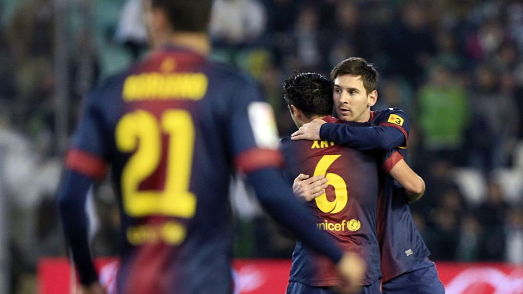 Messi durante el encuentro contra el Betis