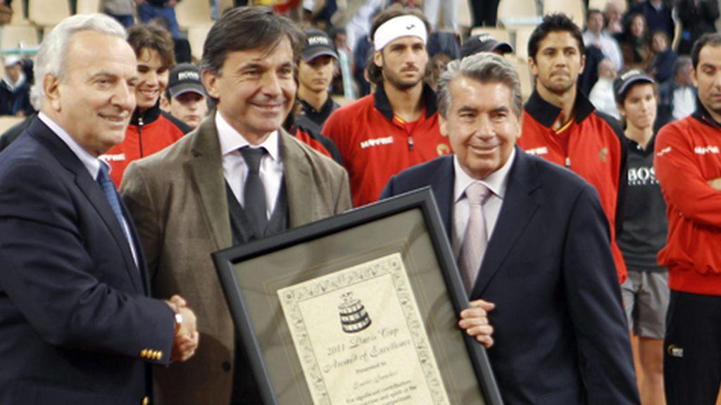 Emilio Sánchez Vicario recibió el premio esta tarde. Foto: Gtres