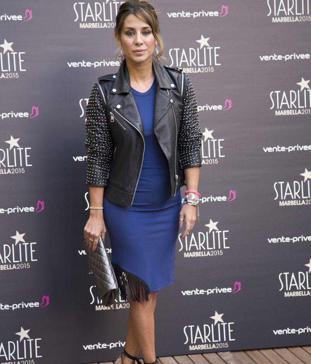Elena Tablada y el vestido azul eléctrico de flecos
