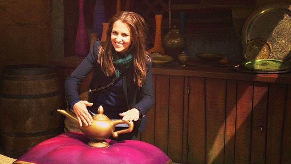 La actriz con la lámpara de 'Aladdin'