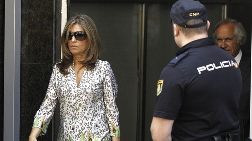 Rosalía Iglesias, esposa de Luis Bárcenas tras declarar en la Audiencia Nacional