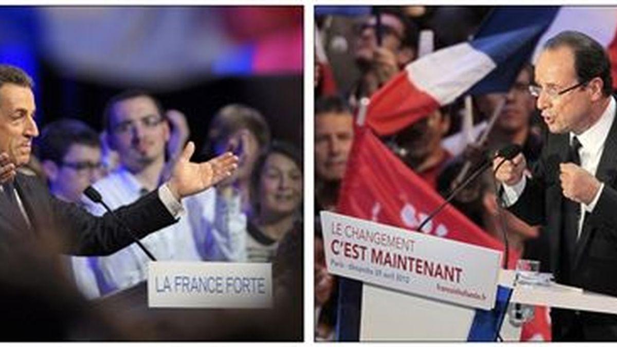Nicolas Sarkozy y François Hollande (Reuters)