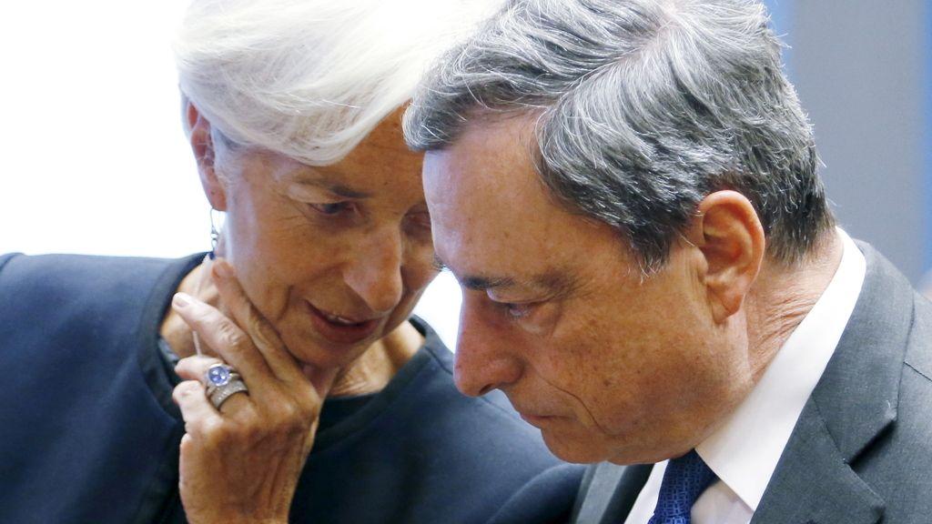 Christine Lagarde y Mario Draghi, en una reunión del Eurogrupo