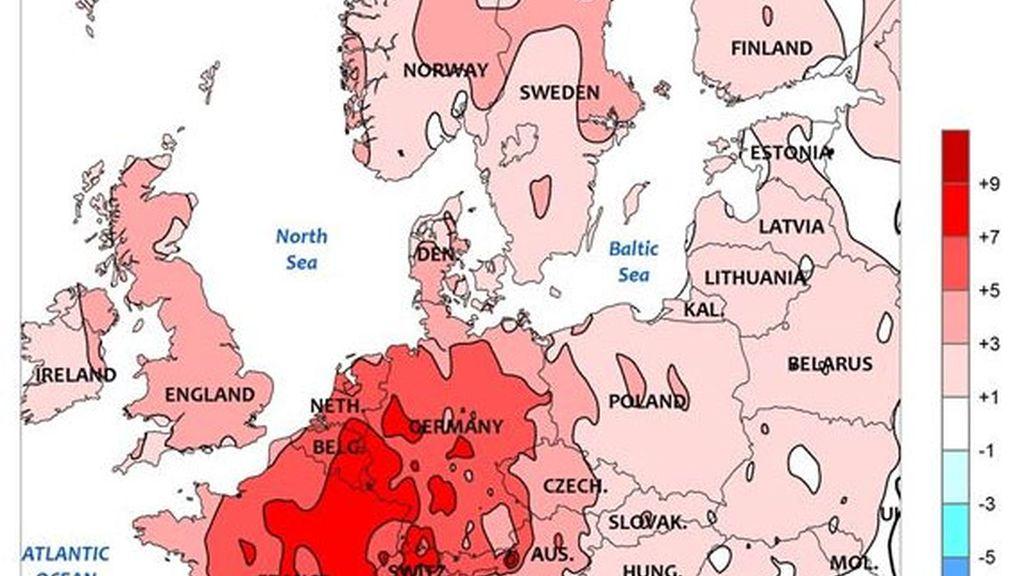 ola de calor Europa,cambio climático,calentamiento global,altas temperaturas Europa