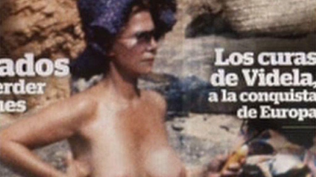 La Duquesa de Alba, en topless