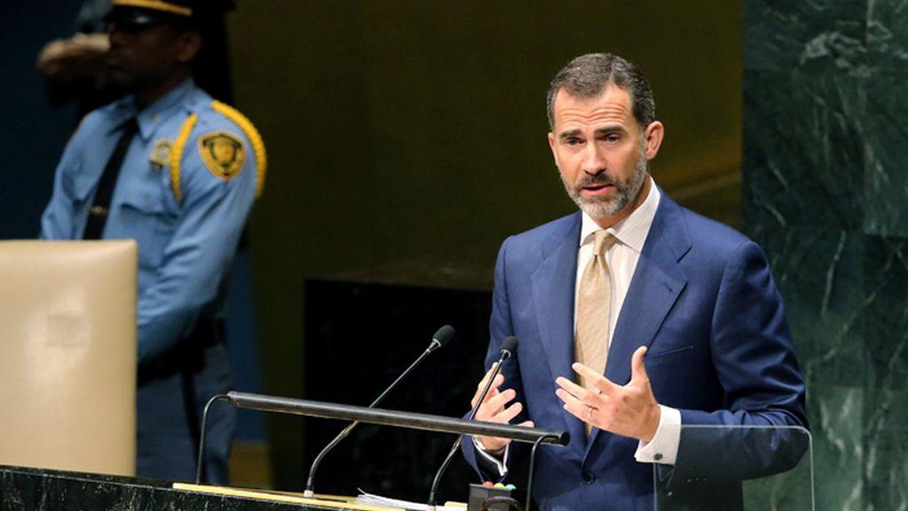 El rey Felipe VI interviene ante la Asamblea General de la ONU