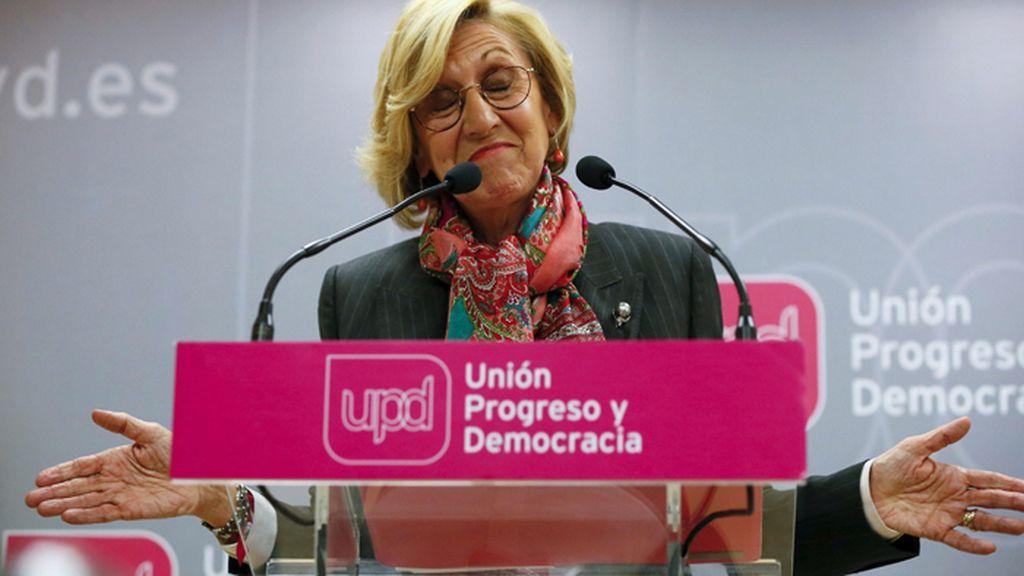 Rosa Díez valora su derrota electoral en Andalucía