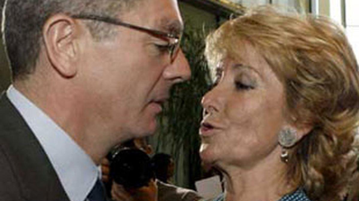 Gallardón y Aguirre, complicada relación