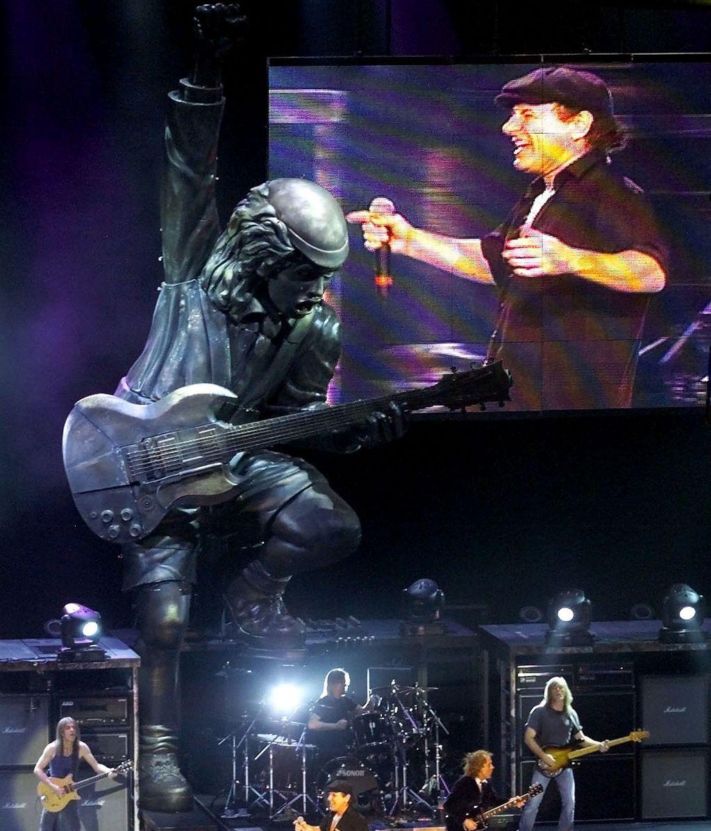 AC/DC en concierto antes de la detención de su batería