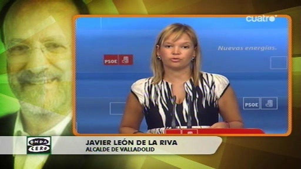 El alcalde de Valladolid habla de forma despectiva sobre Leire Pajín