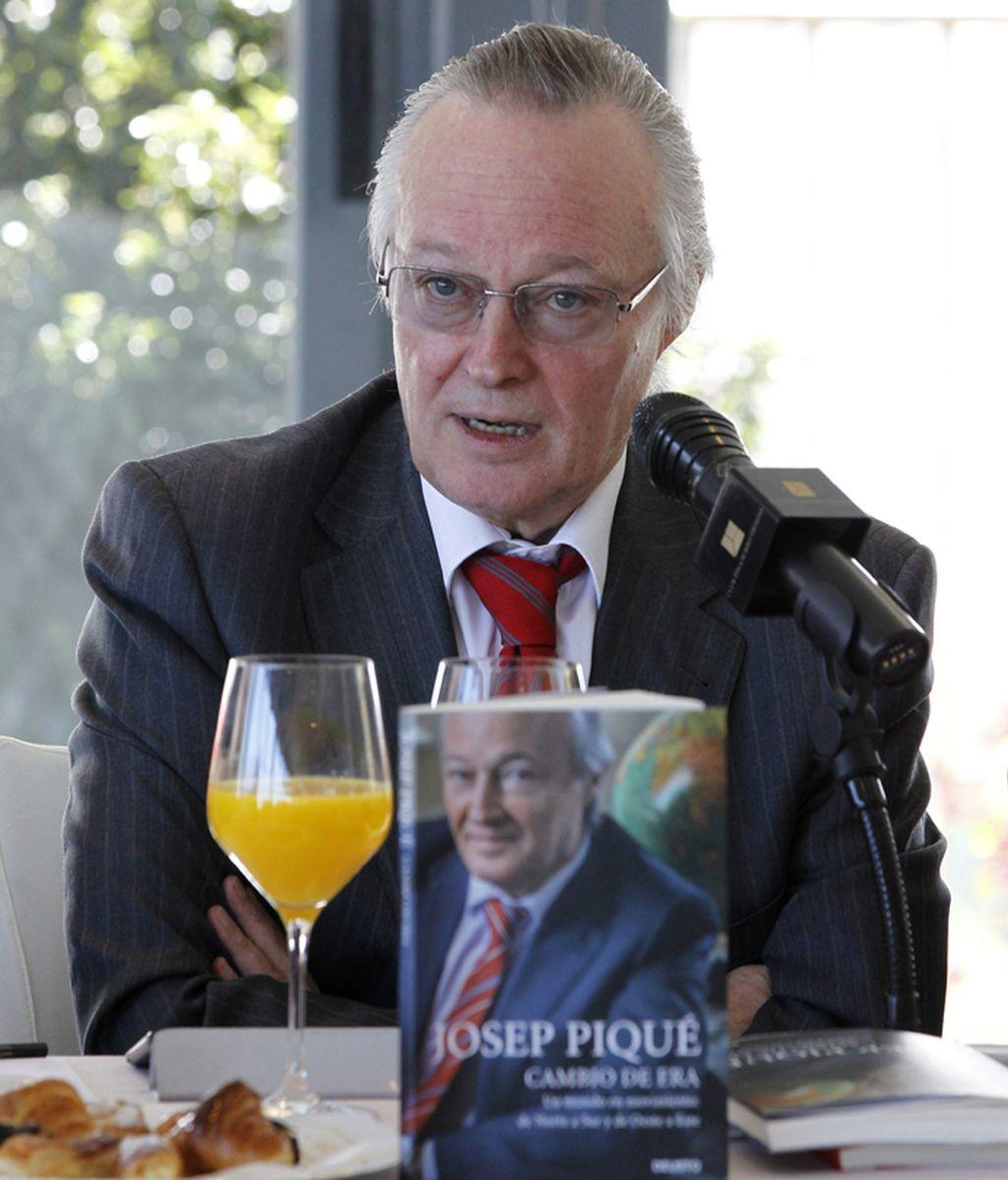 Josep Piqué durante la presentación de su libro, 'Cambio de era'