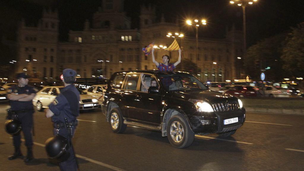 Celebraciones en Madrid y Barcelona por la Copa del Rey