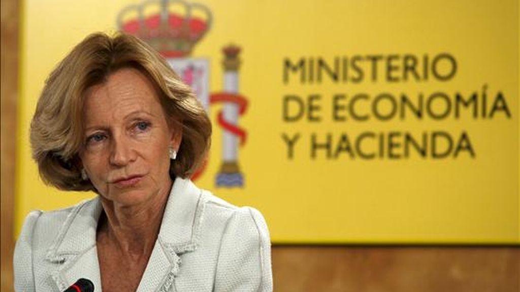 La vicepresidenta segunda del Gobierno y ministra de Economía, Elena Salgado. EFE/Archivo